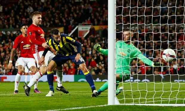 Man Utd 4 Fenerbahce 1 in Oct 2016 at Old Trafford. Robin van Persie scored against his old club in the Europa League, Group A.
