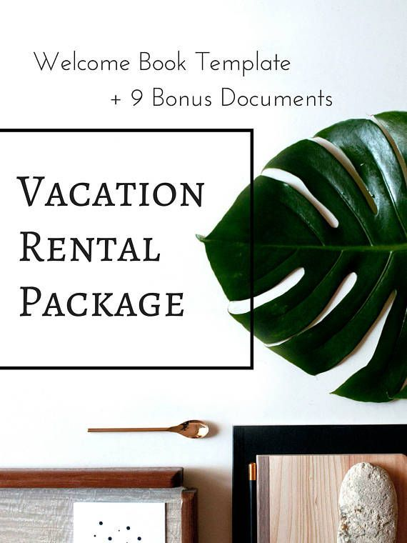 Modern Welcome Book 6 Page Vacation Home Printable Template Airbnb Printable House Manual Beach Rental Edit Online With Corjl Book Template Templates Template Printable