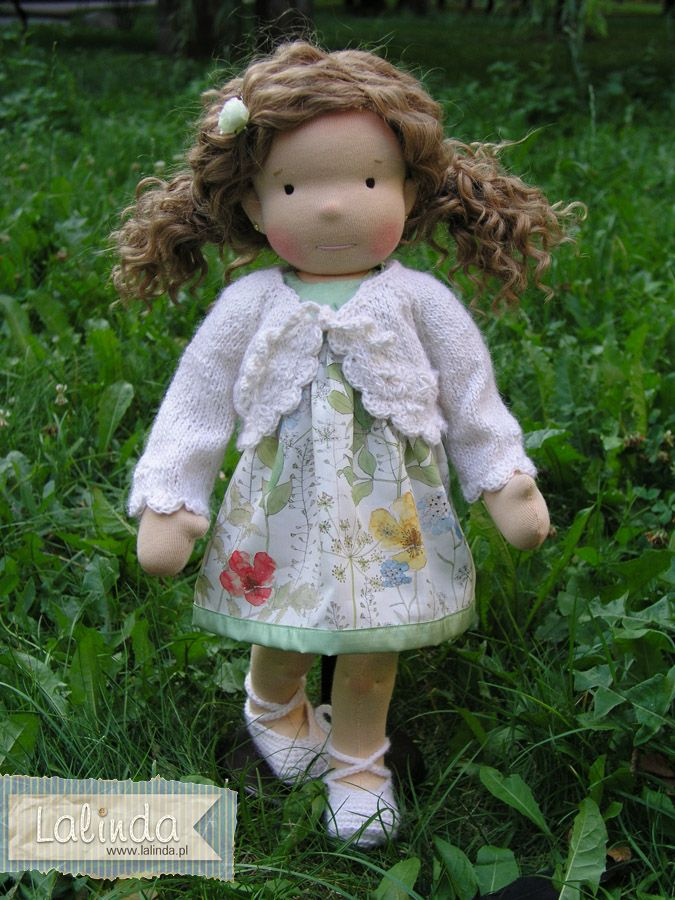 Waldorf inspired cloth doll made by Lalinda.pl