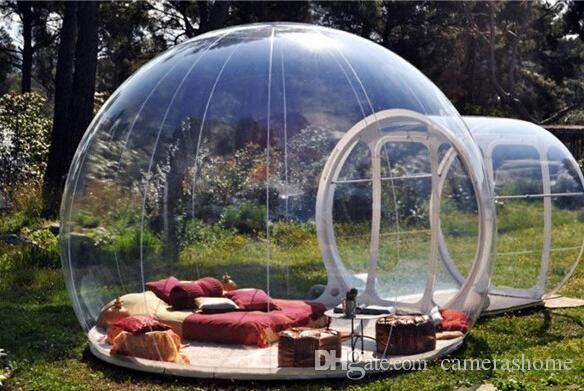 Inflatable bubble garden room