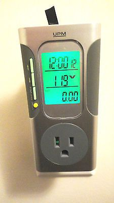 UPM Plug-in Energy Use Usage Meter and Electricity Cost Calculator (EM338)