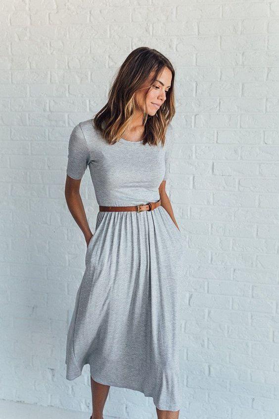 100 cute midi dresses outfits   Casual Outlooks    Casual Outlooks   Casual wear   Fashion   Style   Women Fashion   #fashion #style #casualwear #casualoutlooks   www.madisonashleyusa.com