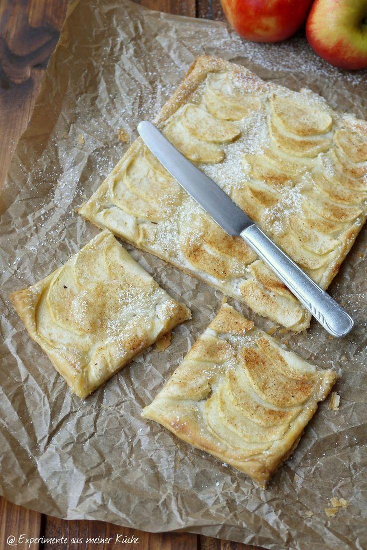Experimente aus meiner Küche: Apfel-Blätterteig-Schnitten mit Marzipanschmand #ichbacksmir #apfelkuchen #apfel #apple