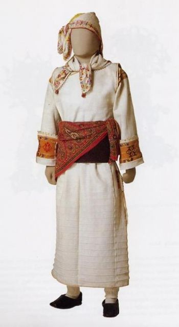 Original island male costume of 18 century. from Pyrgi of Chios