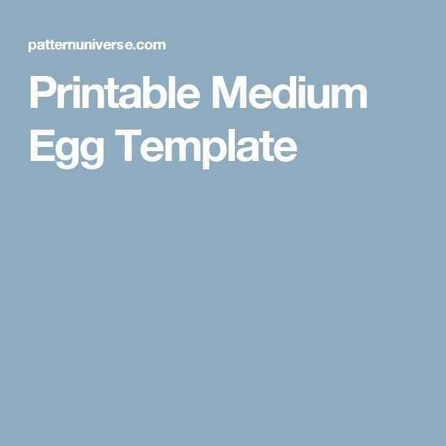Printable Medium Egg Template