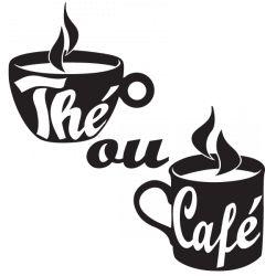 Sticker Thé ou café