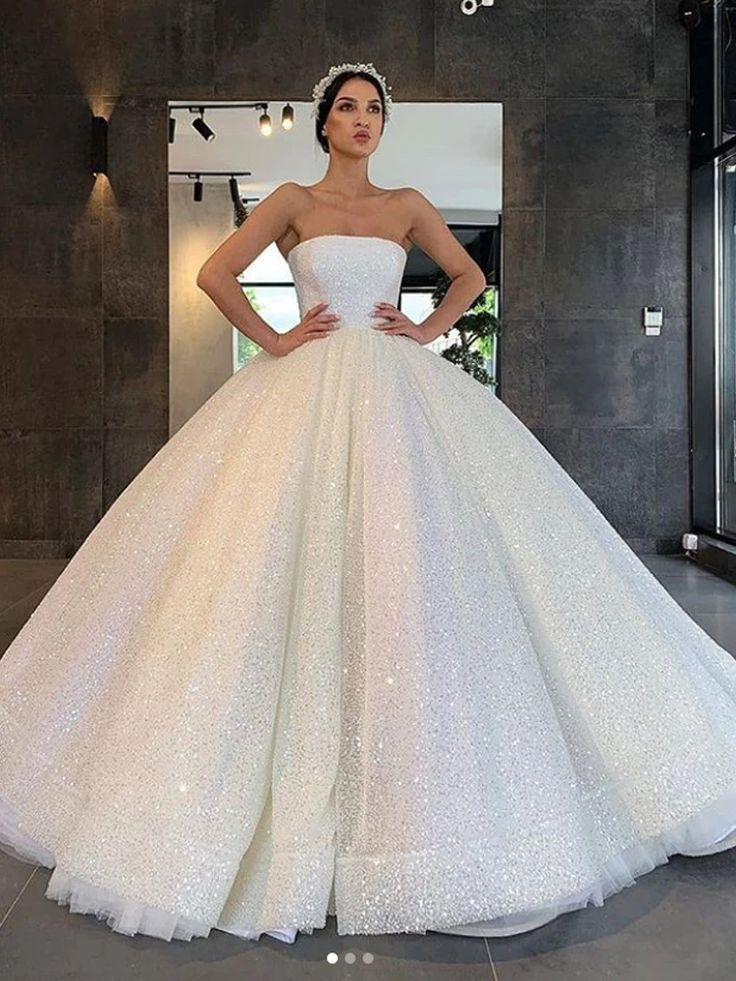 Onlybridals 2020 Decals Tube Top Satin Sweetheart Court Train Prom Satin Dress Wedding Dress In 2020 Ball Gowns Wedding Ball Gown Dresses Princess Wedding Dresses