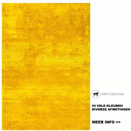 tapijten vloerkleed zacht tapijt geel trinity creations