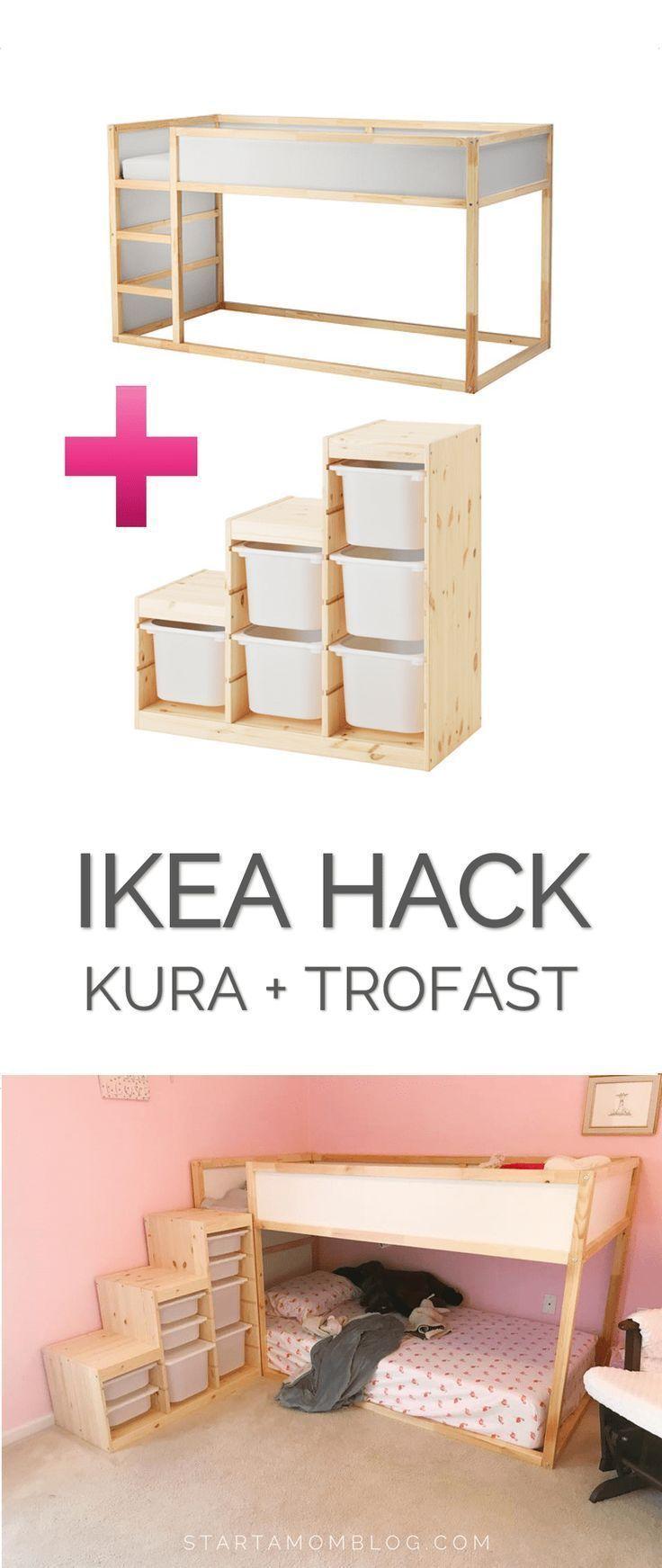 Ikea Hack für ein Kleinkind-Etagenbett – KURA plus TROFAST – super coole Idee