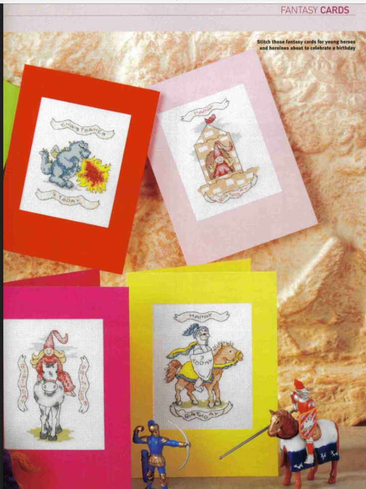 Fantasy Cards 2/2 Cross Stitch Card Shop Issue 46 Saved