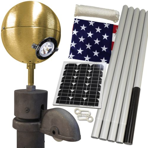 Solar Standard Residential Beacon Package #FlagCo #FlagpoleBeacon #FlagpoleLighting #Solar