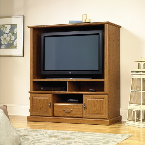 Sauder Orchard Hills Carolina Oak Entertainment Center