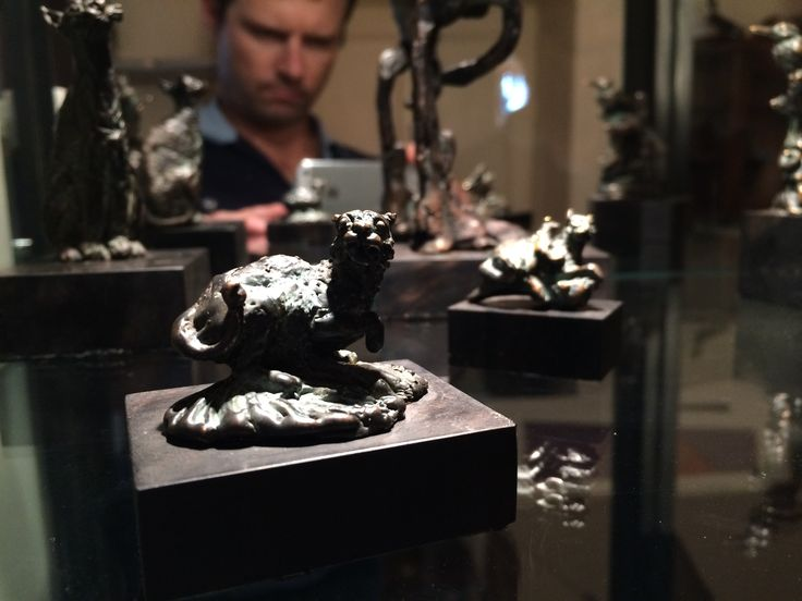 "One of my miniature bronze characters called ""Il Gatto"" a ferocious little cat that dare not be made any bigger!"