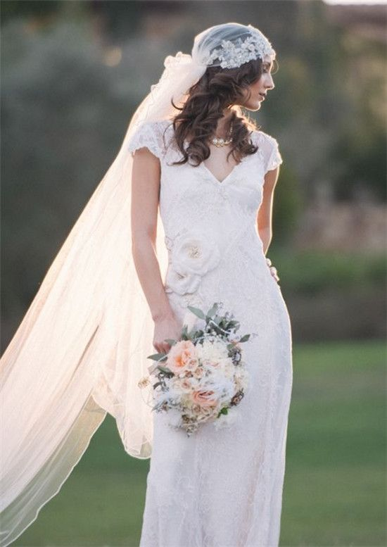 Champetre county wedding dress