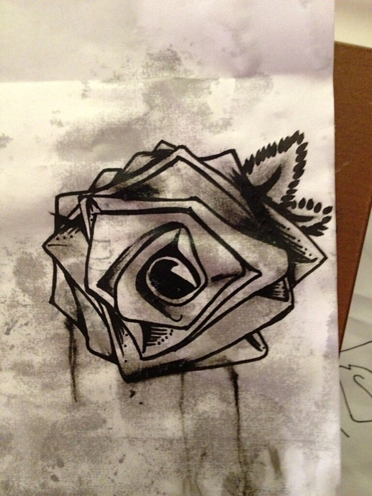 the rose drawn by danny rose murillo from hollywood undead i think i want this on my hand. Black Bedroom Furniture Sets. Home Design Ideas