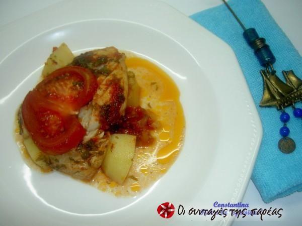 Fish a la Spetsiota #cooklikegreeks #fish #seafood #vegetables