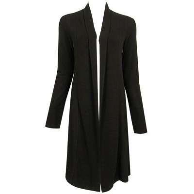 Woolen long black cardigan