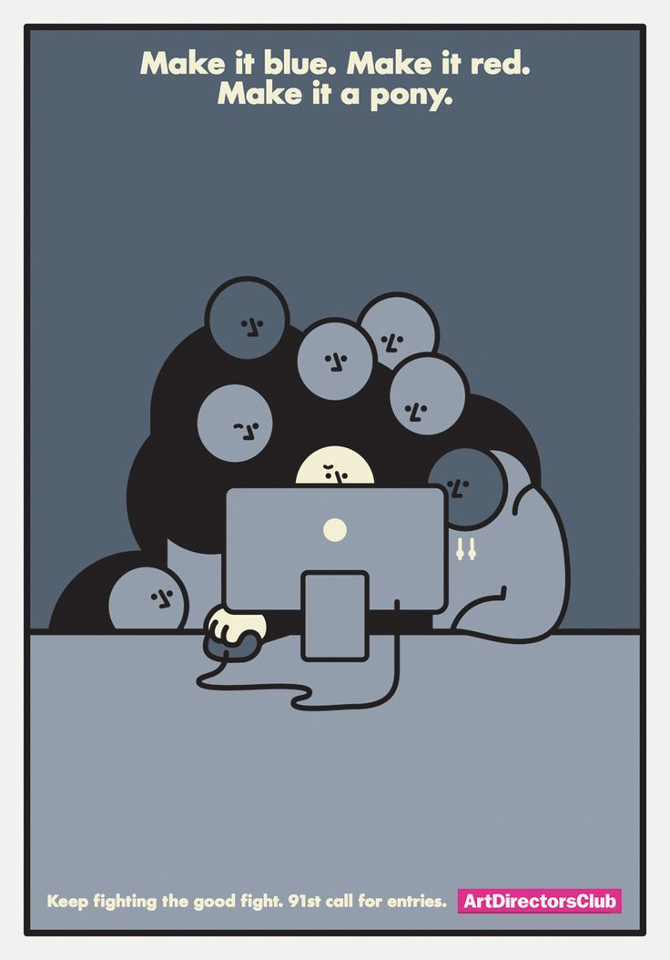 illustrations from Rami Niemi This reminds me of life at the ad agency or marketing dept...