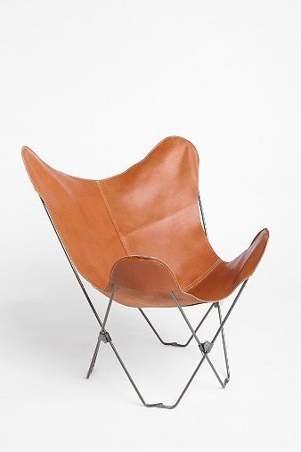 UO Lux Leather Butterfly Chair