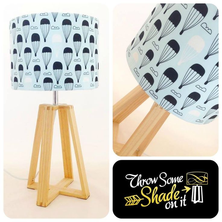 This lamp shade from Throw Some Shade On It would go perfectly with This Art of Mine's hot air balloon print in one of our blue colour palettes.