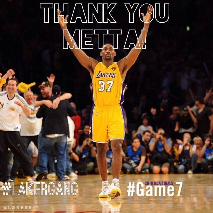 So we lost @Paul Au last night, my fave laker since Eddie Jones. Thanks for everything Metta, ESPECIALLY game 7! (Took a Kobe-esk type Ballsy shot, then blew a kiss to the staples center crowd!) a true original. Hope you land someplace where you can shine! #Lakergang #Lakers #LA #Basketball #WillBeMissed #MettaWorldPeace #RonArtest