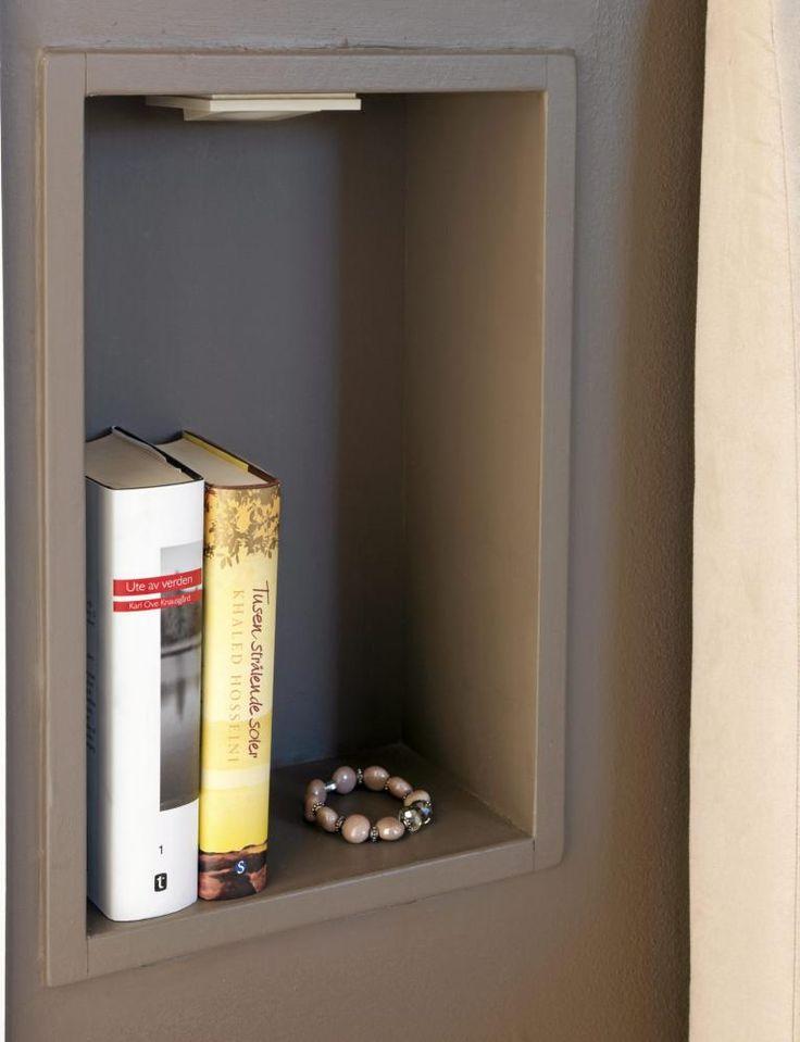 Nattbord smarte løsninger, innfelt i veggen=