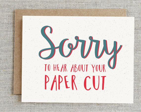 Funny Sympathy Card Sorry Card Get Well Soon by rhubarbpaperco