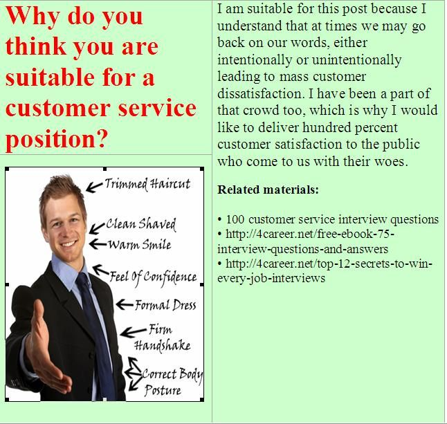15 best images about Customer service advisor interview questions ...