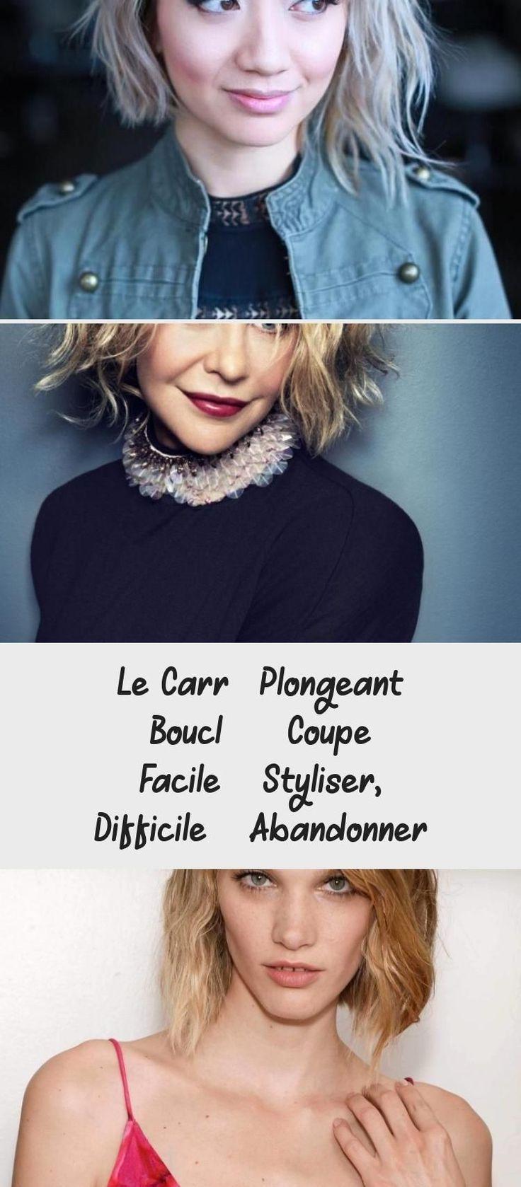Le Carré Plongeant Bouclé - Coupe facile à styliser, difficile à abandonner - Cheveux - Cheveux ...
