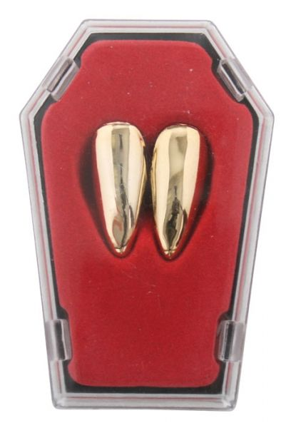 Let's Party With Balloons - Vampire Fangs in Coffin Gold, $8.00 (http://www.letspartywithballoons.com.au/vampire-fangs-in-coffin-gold/)