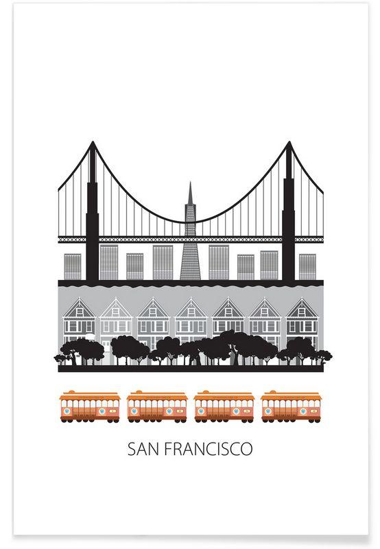 San Francisco as Premium Poster by Forma Nova | JUNIQE
