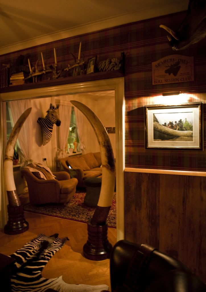 Hunting Themed Man Cave Accessories : Amazing trophy room obsessed with the zebra for