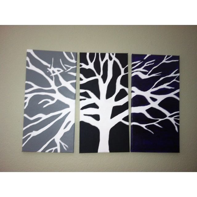 3 canvas Tree painting