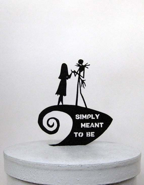 Wedding Cake Topper The Nightmare Before Christmas by Plasticsmith