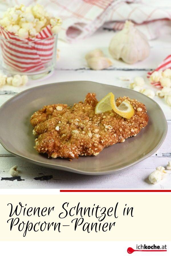 Wiener Schnitzel In Popcorn Panier Rezept Rezept Wiener Schnitzel Schnitzel Lebensmittel Essen