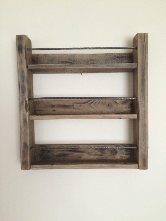 Spice Rack zurückgefordert Holz Gewürzregal von SpudsCreativeAsylum