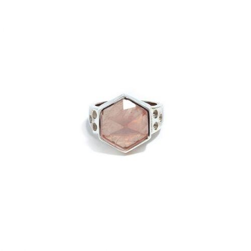 Rose Quartz Ring (SR) Silver
