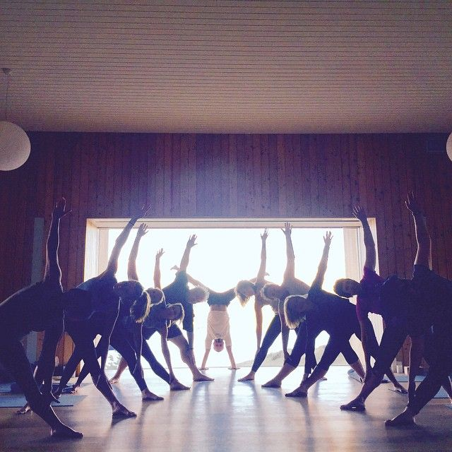 Last week's playful yogis... Getting symmetrical on it! May your minds be a garden and your body be a playground...