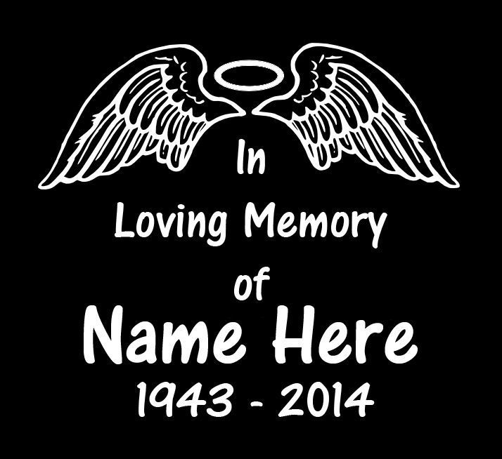 In Loving Memory With Roses Personalized Custom Vinyl Car Decal - Custom vinyl decals for crafts