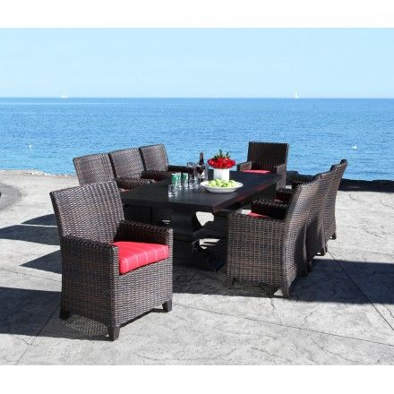 Modern Cast Aluminum Patio Furniture   Venice Dining Table   Cabana Coast