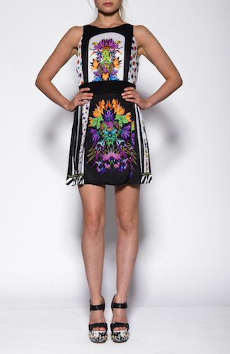 Just Cavalli dress Multicolored dress with pleated skirt. 100%POLYESTER Code: S04CT0228N36741