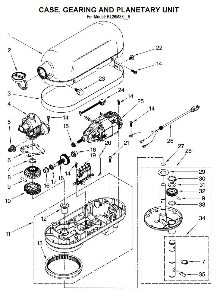 kitchenaid mixer parts diagram on kitchenaid blender parts diagram