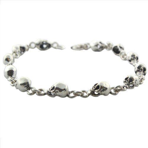 Sterling Silver 7 1/2 Inch Skull Link Bracelet Avatar Sterling. Save 33 Off!. $34.50
