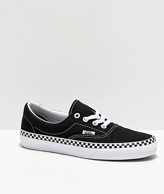 Vans Era Checkerboard Foxing Black