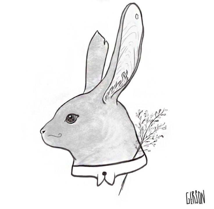 #illustration #Illustration #Digital art #art #arte #intous #creative #draw #paint #painting #drawing #abstract #rabbit #coelho #mustache
