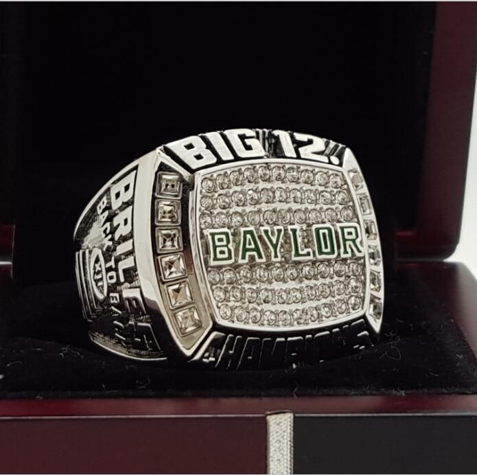2015 Baylor Bears Big 12 College NCAA National Championship Ring 7-15 Size COPPER SOLID Engraved Inside