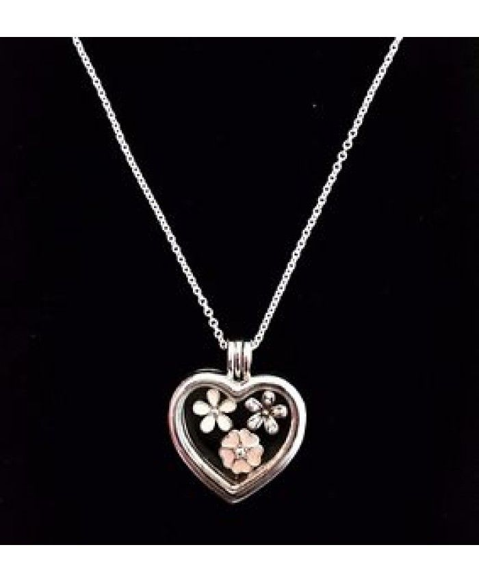 92fc861a5 Pandora Floating Heart Locket Necklace Cheap Sale | heart necklace ...