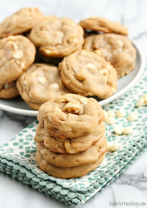 Macadamia Nut White Chocolate Chip Cookies. Or chocolate chip. Or loaded with whatever you want! Came out so soft and chewy.