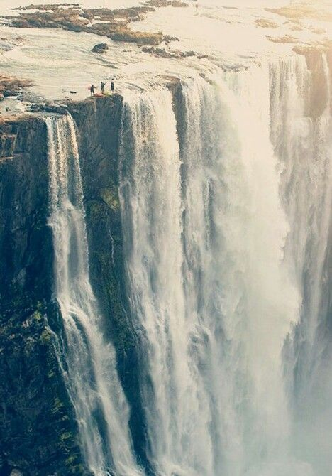 On the edge of Victoria Falls.