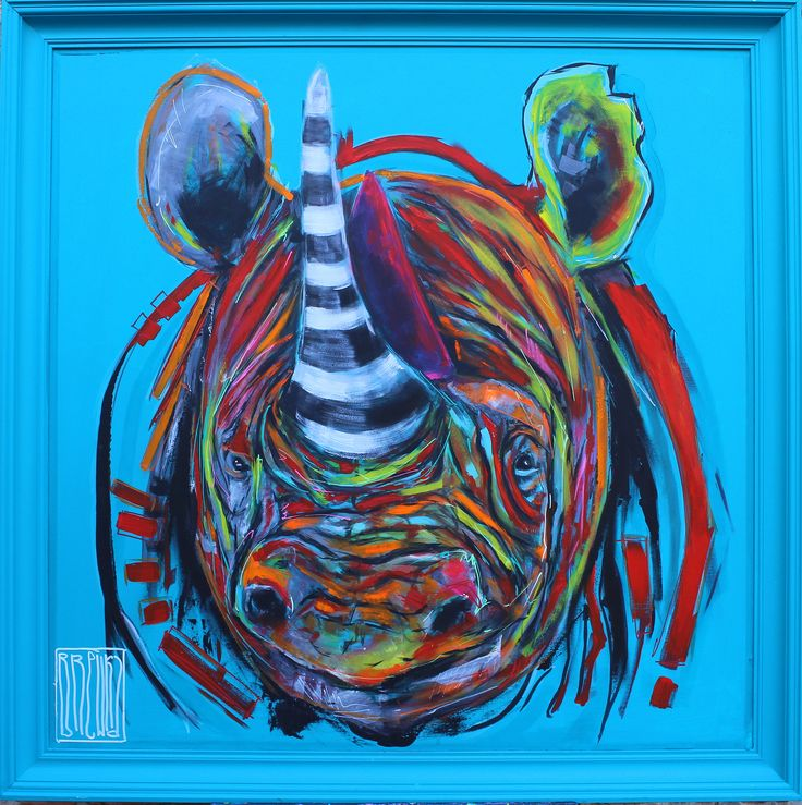 #wojciechbrewka #rhino #animals #art #painting #sztuka #africa #tattoo #popart #youngart